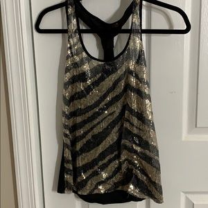 See through glitter tank top. Small